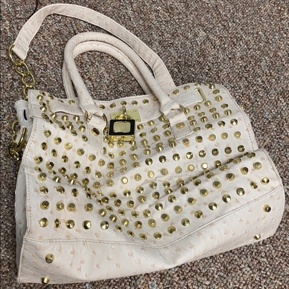 Cream oversized purse